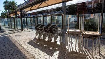 Imagen de una terraza cerrada de Logroño