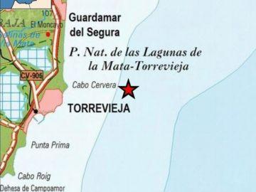 Torrevieja registró ayer un terremoto frente a sus costas.