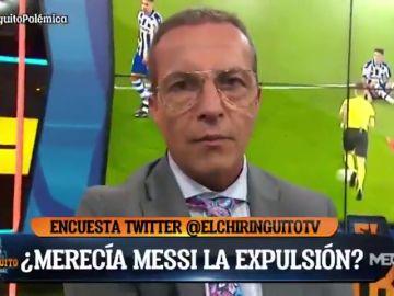 ¿Merecía Leo Messi la expulsión?: 'El Chiringuito' dicta sentencia