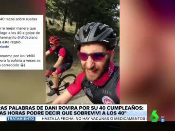"""El divertido vídeo de Dani Rovira montando en bici como un 'anti-influencer': """"¡Me cago en la p***, me pongo a grabar en una cuesta!"""""""