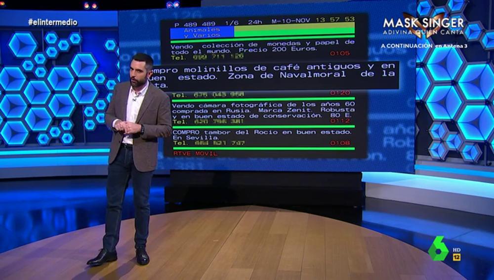 """Sí, el teletexto sigue funcionando: estos son los """"extraños"""" mensajes que escriben algunos usuarios"""