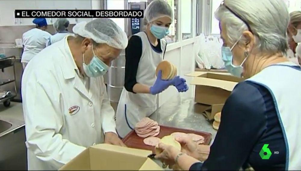 Comedores sociales, desbordados, obligados a pedir ayuda para poder dar de comer a los más vulnerables