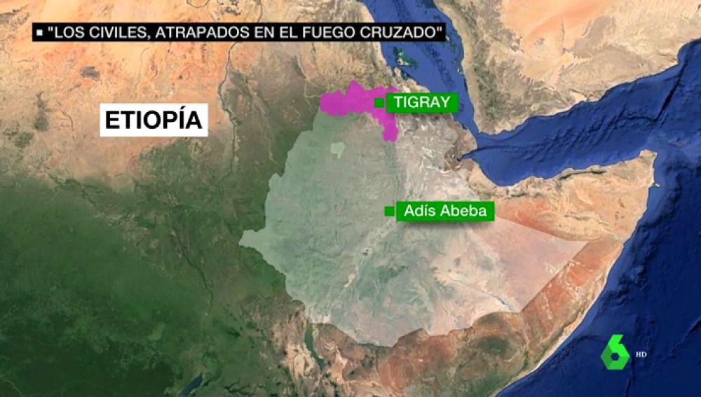 Más de 10.000 etíopes huyen hacia Sudán de la escalada de violencia en la región del Tigray