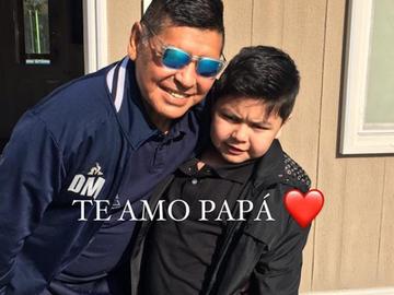 Maradona con su hijo Diego Fernando
