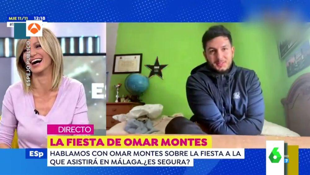 La declaración de amor de Omar Montes a Susanna Griso que 'sonroja' a la presentadora en Espejo Público