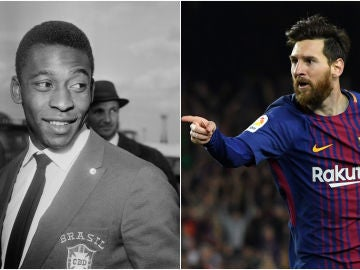 Pelé y Leo Messi