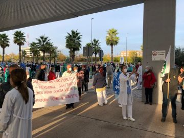 Protesta en el Hospital Infanta Sofía