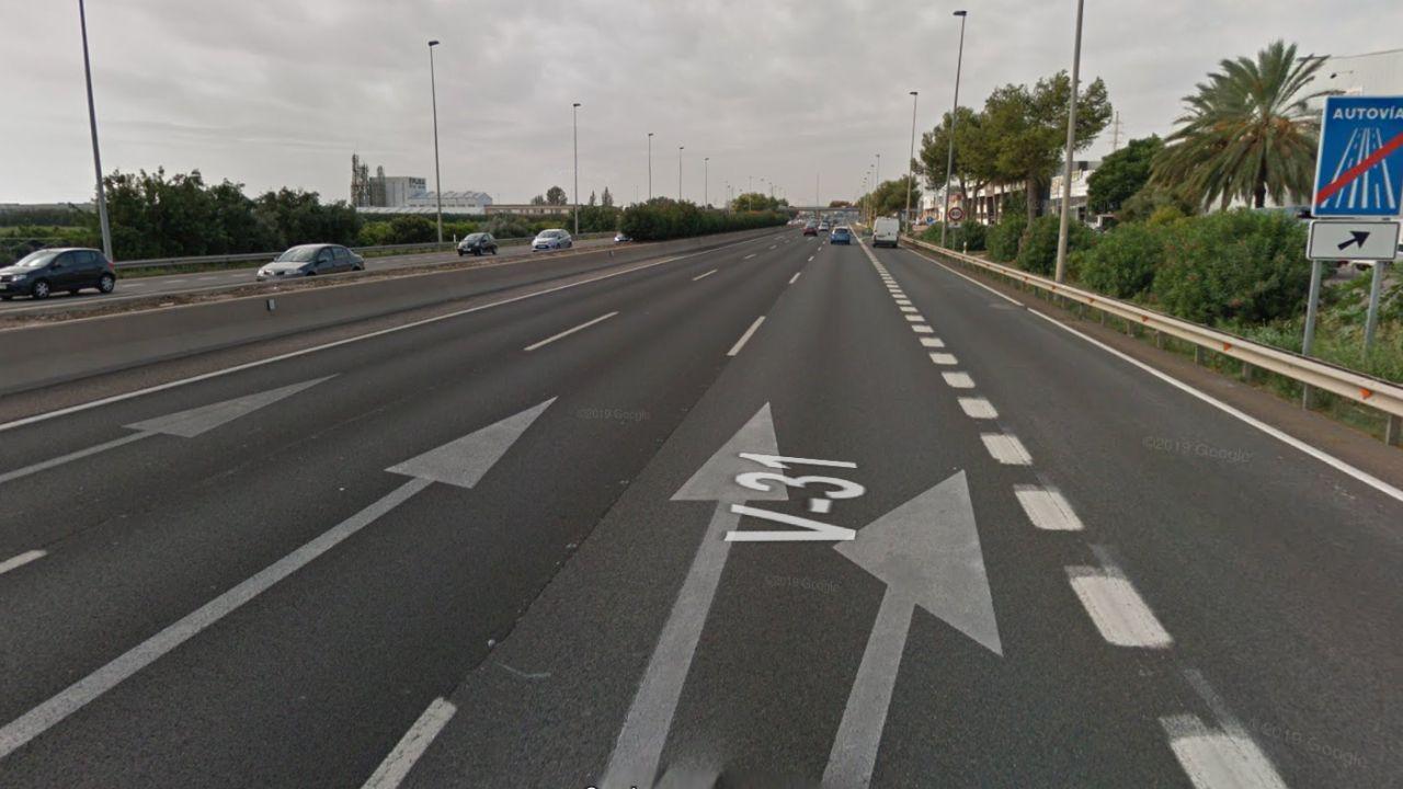 Atropello en la autovía v-31