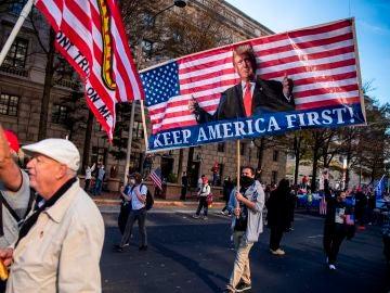 Imagen de la manifestación en apoyo a Donald Trump en Washington