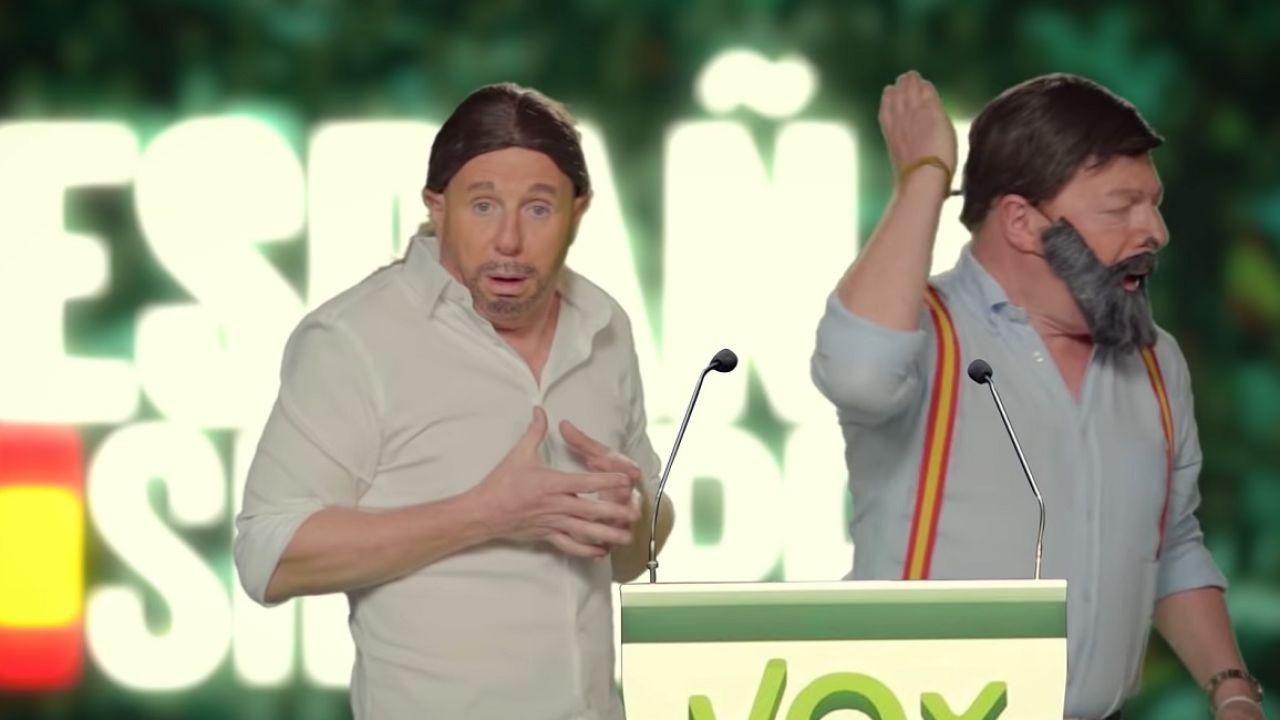 'Los Morancos' imitando a Santiago Abascal y Pablo Iglesias