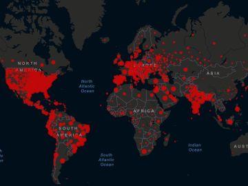 Mapa de coronavirus del 15/11/2020