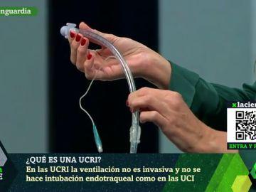 Imagen del tubo que se usa en las UCI