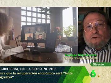 El economista Niño-Becerra en laSexta Noche
