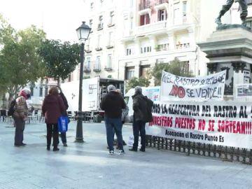 Imagen de la zona donde tiene lugar el Rastro de Madrid