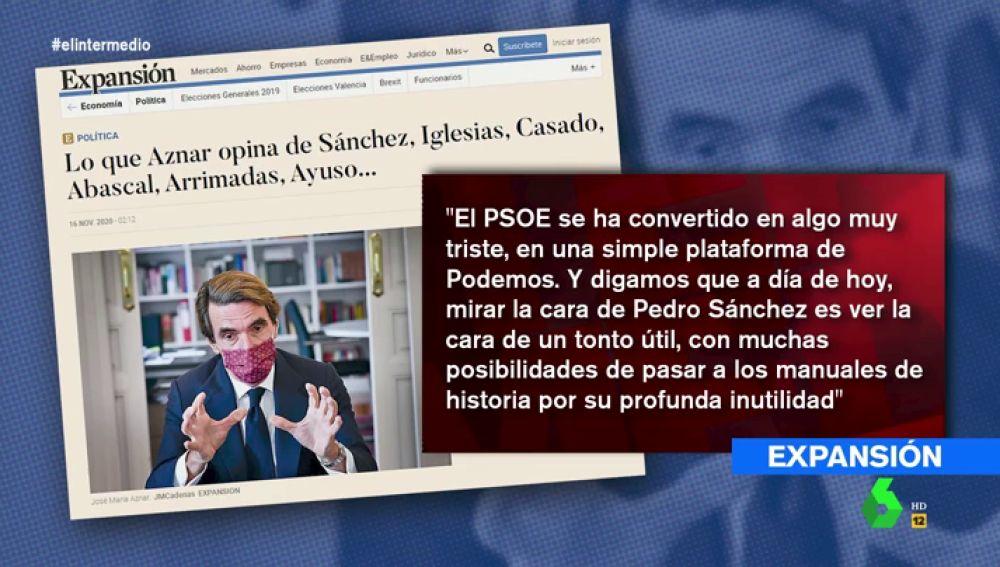 """La tajante respuesta de Wyoming a Aznar tras llamar """"tonto útil"""" a Pedro Sánchez"""