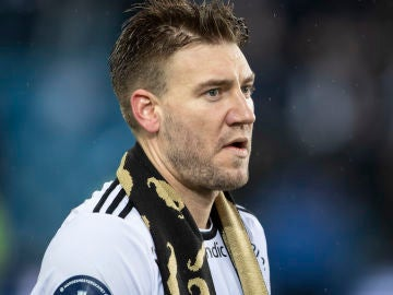 Nicklas Bendtner, en la final de la Norwegian Cup