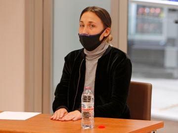 Alejandra G.P., acusada del asesinato de Dominique, durante la celebración del juicio.