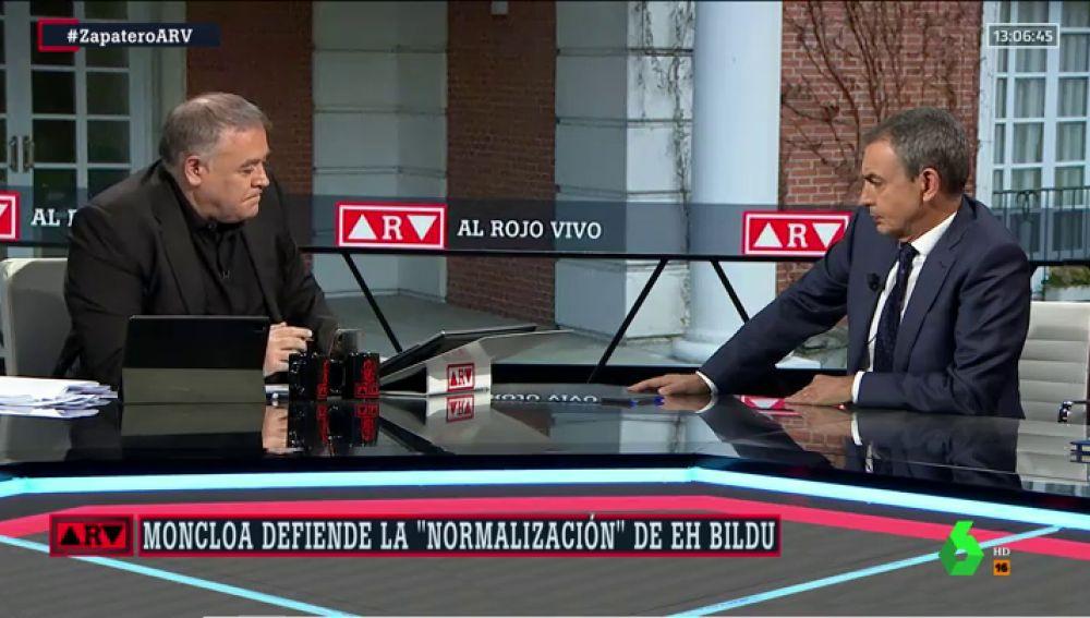 """Zapatero defiende el apoyo de Bildu: """"Nadie dice nada sobre el contenido de los Presupuestos, que son vitales"""""""