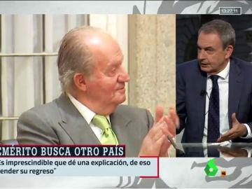 """Zapatero cree que el rey emérito debería dar explicaciones antes de regresar a España porque """"la sociedad se lo merece"""""""