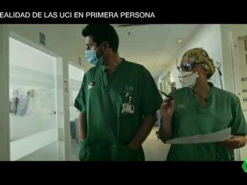 Dos médicos de UCI en el documental