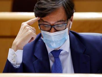 El ministro de Sanidad, Salvador Illa, durante el pleno del Senado.