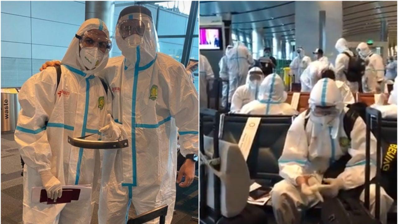 Jonathan Viera, en la expedición del Beijing Guoan a Doha