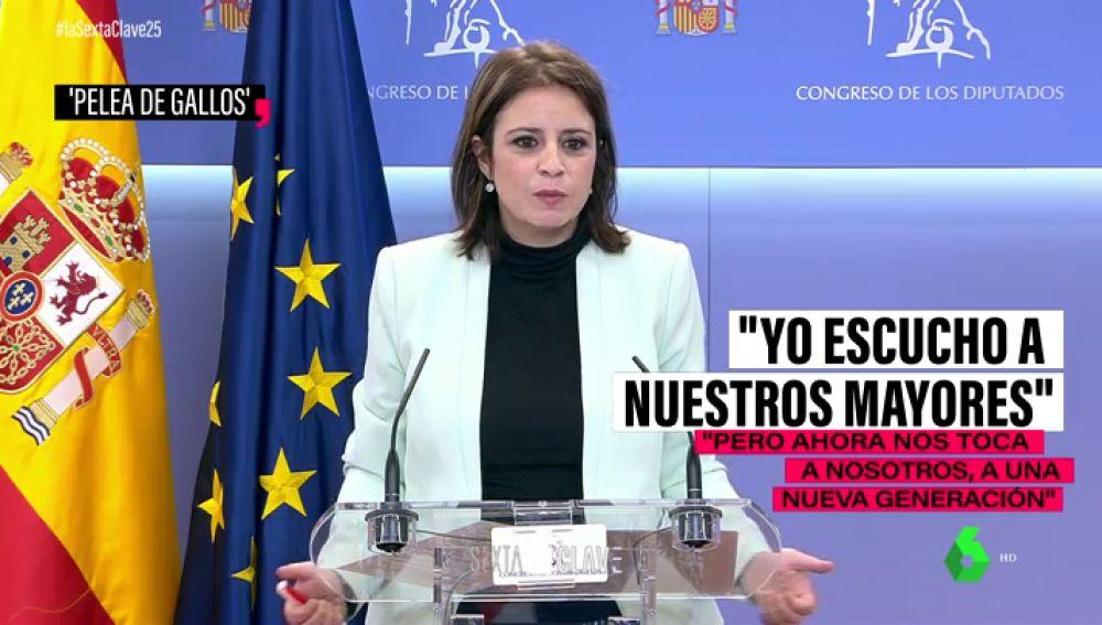 """'Pelea de gallos' dentro del PSOE por el apoyo de Bildu: """"Siempre escucho a nuestros mayores, pero ahora nos toca a nosotros"""""""