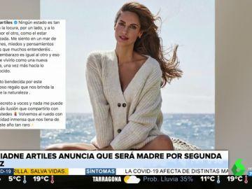 """Ariadne Artiles anuncia que está embarazada de su segundo hijo: """"Es una felicidad inmensa en este año tan raro"""""""