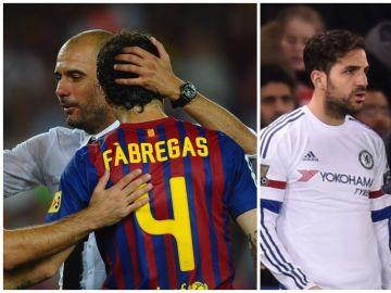 Cesc Fabregas compartió banquillo con Guardiola y Mourinho