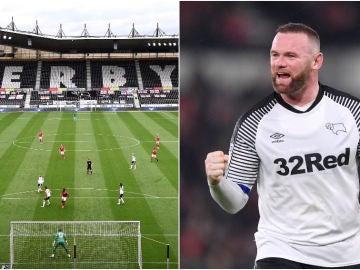 Wayne Rooney ejerce, actualmente, la labor de entrenador-jugador en el Derby County
