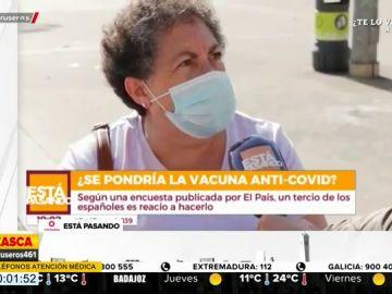 """El 'dardo' de una señora sobre la vacuna contra el coronavirus: """"Que se la ponga el Gobierno primero"""""""
