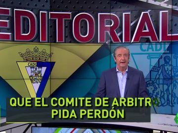 """Pedrerol, tras la sanción a Cervera: """"Qué fácil es meterse con el Cádiz"""""""