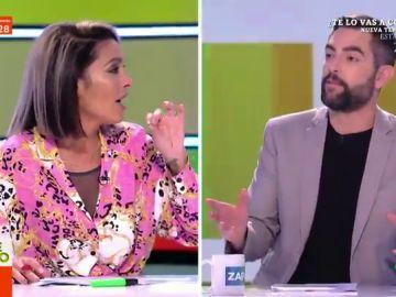 """El enfado de Lorena Castell con Dani Mateo por intentar desvelar su """"gran secreto"""" sobre los argelinos: """"¡Por favor, como lo digas me levanto y me voy!"""""""