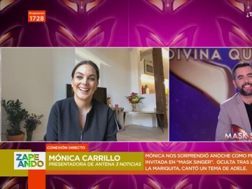"Mónica Carrillo 'desvela' en Zapeando cómo accedió a cantar en Mask Singer: ""Lo utilicé para romper muros mentales"""