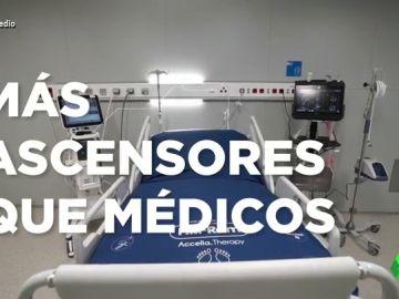 """El otro vídeo con el que Madrid 'promociona' el hospital de pandemias: """"La calidad es de un hotel de lujo porque ha costado lo mismo"""""""