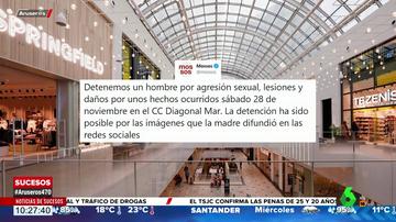 Detienen al pedófilo que habría abusado sexualmente de una niña de 14 años en un centro comercial de Barcelona