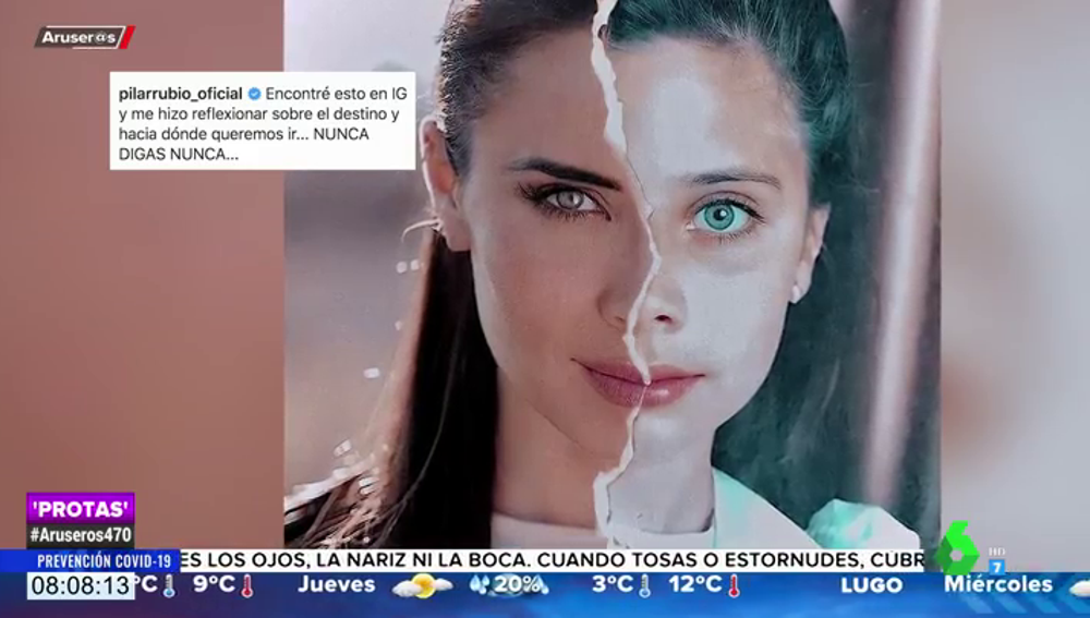 El montaje de Pilar Rubio que le ha hecho reflexionar en redes sociales