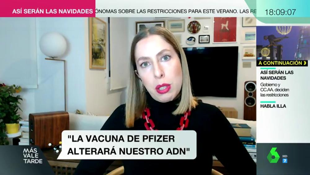 """Deborah García Bello desmonta los bulos sobre las vacunas: """"No nos va a mutar el ADN"""""""