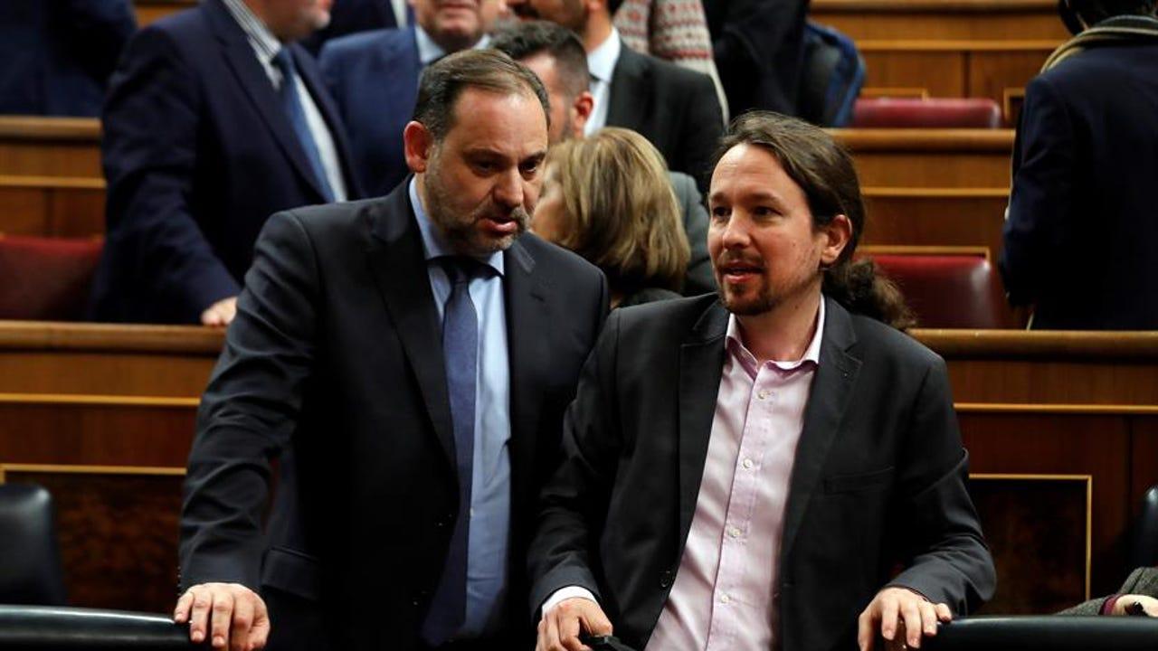 Imagen de archivo de Pablo Iglesias y José Luis Ábalos