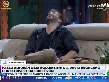 """La divertida confesión sexual de Pablo Alborán a David Brocano en 'La Resistencia' sobre su práctica sexual """"a dos manos"""""""