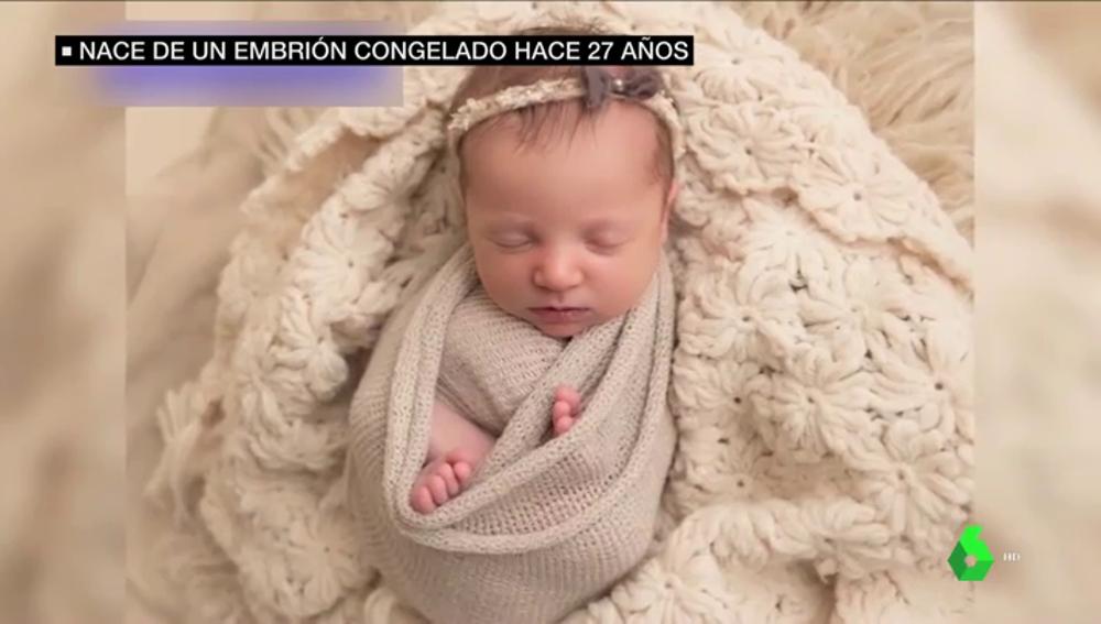 Nace un embrión congelado hace 27 años en Estados Unidos