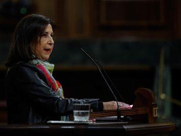 Margarita Robles, en la tribuna del Congreso