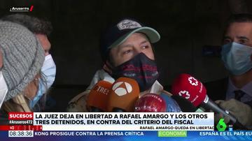 """Rafael Amargo, tras salir en libertad: """"En mi casa no había nada, había mucha alegría"""""""