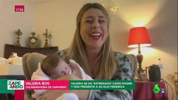 """Valeria Ros presenta a su hija Federica en Zapeando: """"Es la niña más guapa del mundo"""""""