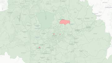 Mapa de las zonas con restricciones específicas dentro de la Comunidad de Madrid