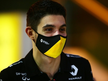 Esteban Ocon, en el GP de Sakhir