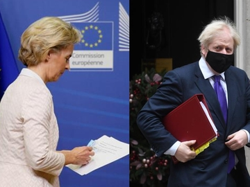 Ursula Von der Leyen y Boris Johnson