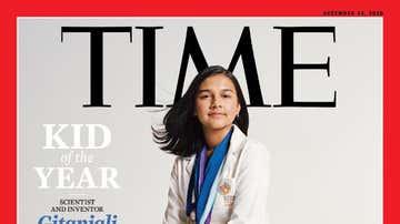 Gitanjali Rao, en la portada de la revista Time