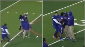 Brutal placaje de un jugador universitario de fútbol americano