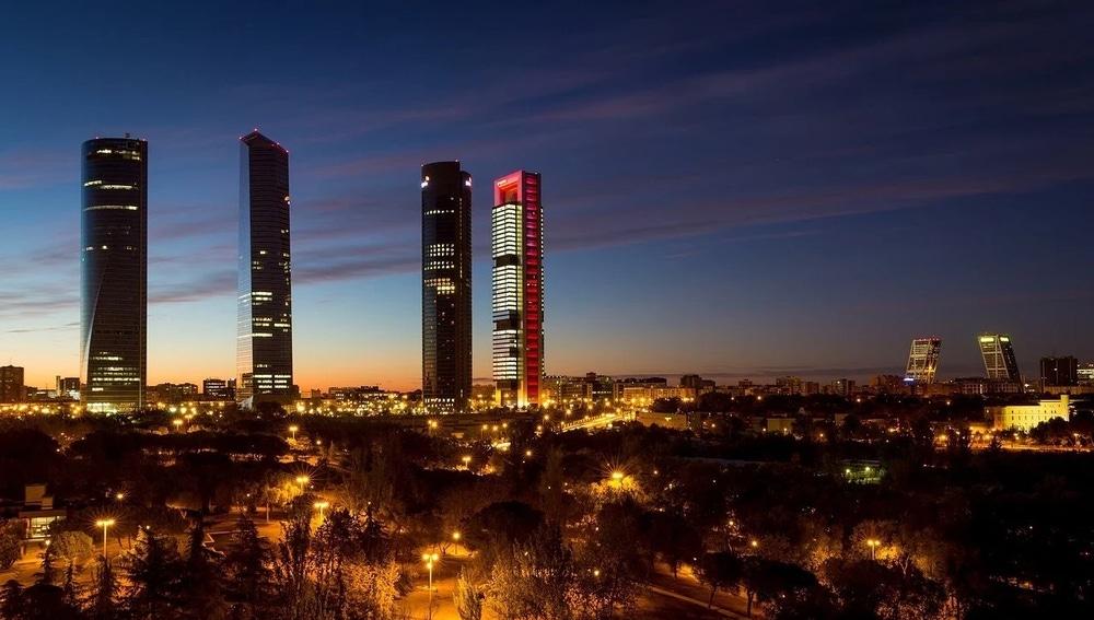 Imagen de archivo de las torres de Chamartín en Madrid